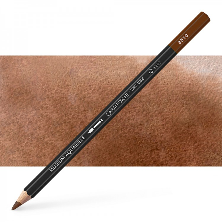 Caran d'Ache : Museum Aquarelle Pencil : Dark Flesh 50%