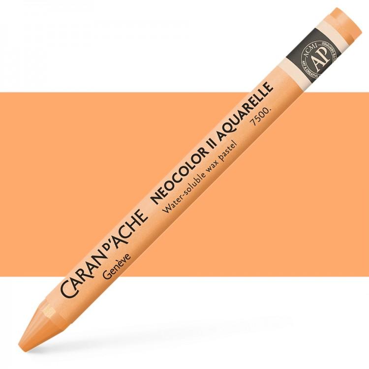 Caran d'Ache : Neocolor II : Watercolour Crayon : Apricot