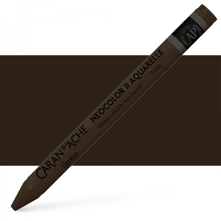 Caran d'Ache : Neocolor II : Watercolour Crayon : Vandyke Brown