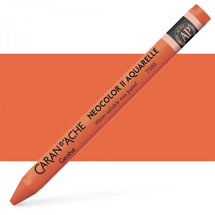 Caran d'Ache : Neocolor II : Watercolour Crayon : English Red