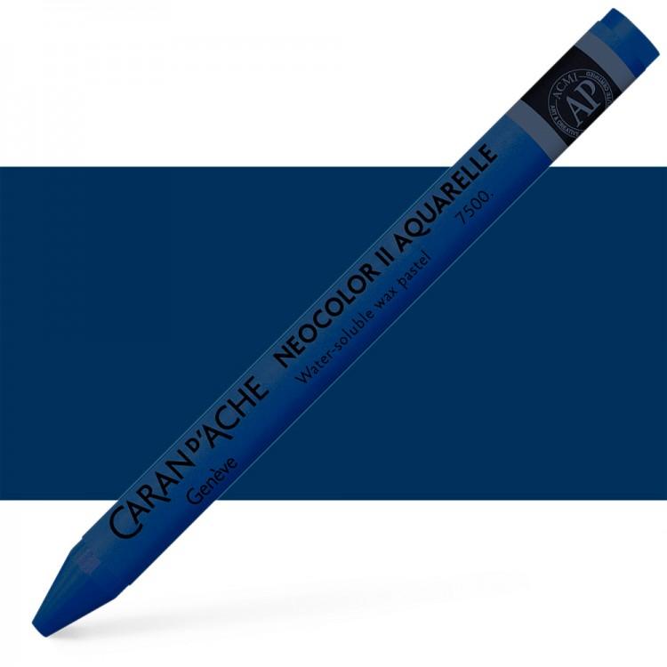 Caran d'Ache : Neocolor II : Watercolour Crayon : Prussian Blue