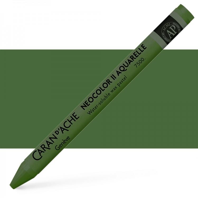 Caran d'Ache : Neocolor II : Watercolour Crayon : Dark Green