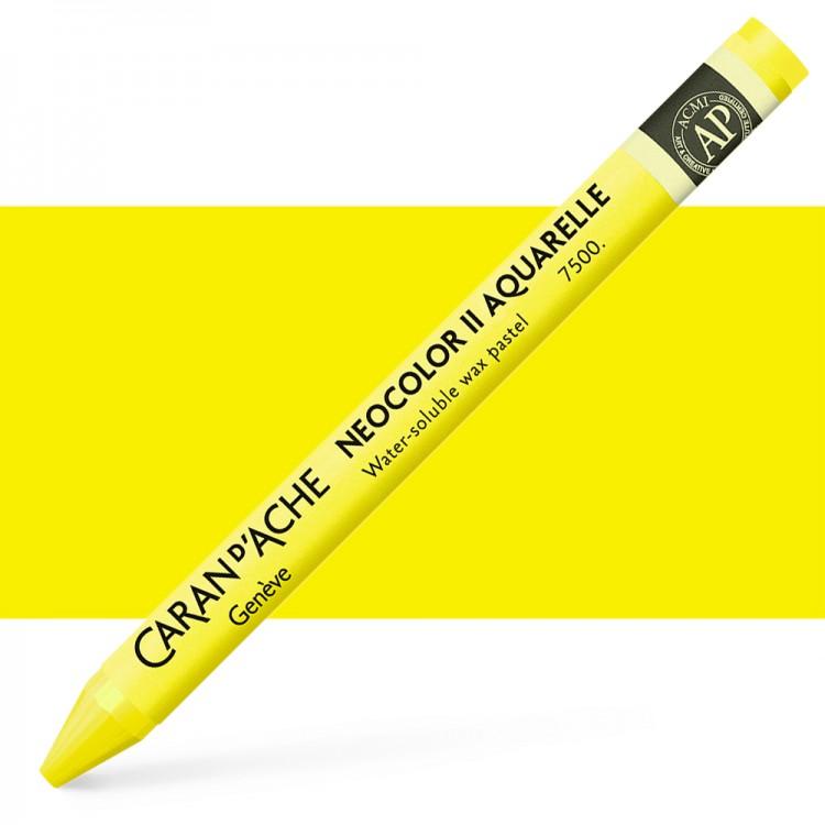 Caran d'Ache : Neocolor II : Watercolour Crayon : Lemon Yellow