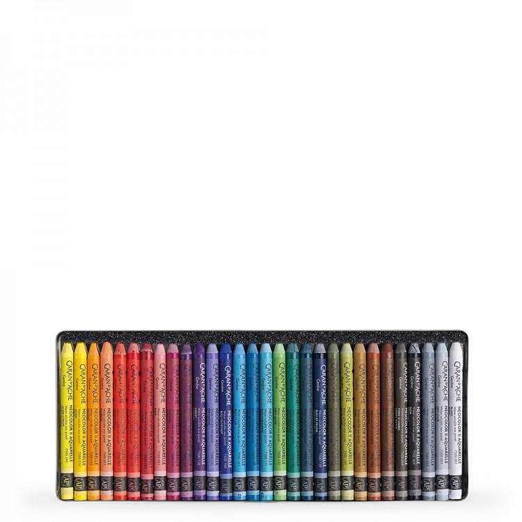 Caran d'Ache : Neocolor II : Watercolour Crayon : 30 in a Metal Box