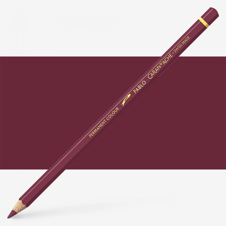 Caran d'Ache : Pablo Coloured Pencil : Dark Carmine 089