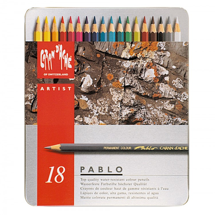 Caran d'Ache : Pablo Coloured Pencil : Set of 18