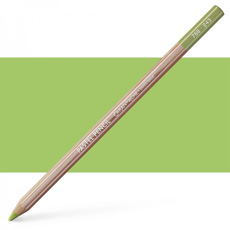 Caran d'Ache : Pastel Pencil : Light Olive 20 Percent