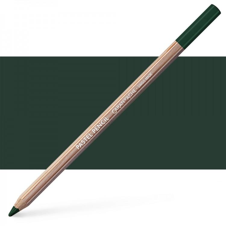 Caran d'Ache : Pastel Pencil : Dark Phthalo. Green