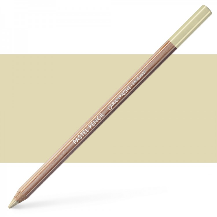 Caran d'Ache : Pastel Pencil : Brown Olive 10 Percent