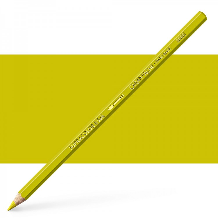 Caran d'Ache : Supracolor Soft : Watersoluble Pencil : Olive Yellow