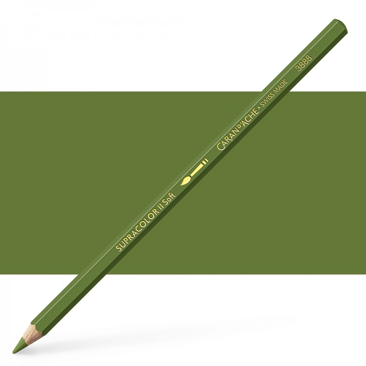 Caran d'Ache : Supracolor Soft : Watersoluble Pencil : Olive Grey