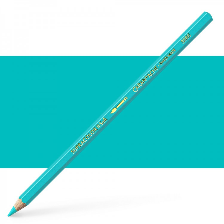 Caran d'Ache : Supracolor Soft : Watersoluble Pencil : Turquoise Green