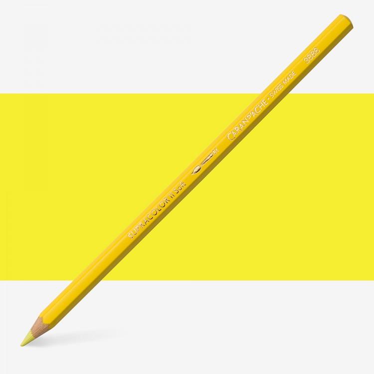 Caran d'Ache : Supracolor Soft : Watersoluble Pencil : Lemon Yellow