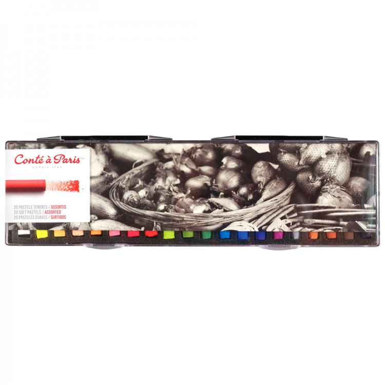 Conte a Paris : Soft Pastels 20 Assorted Set