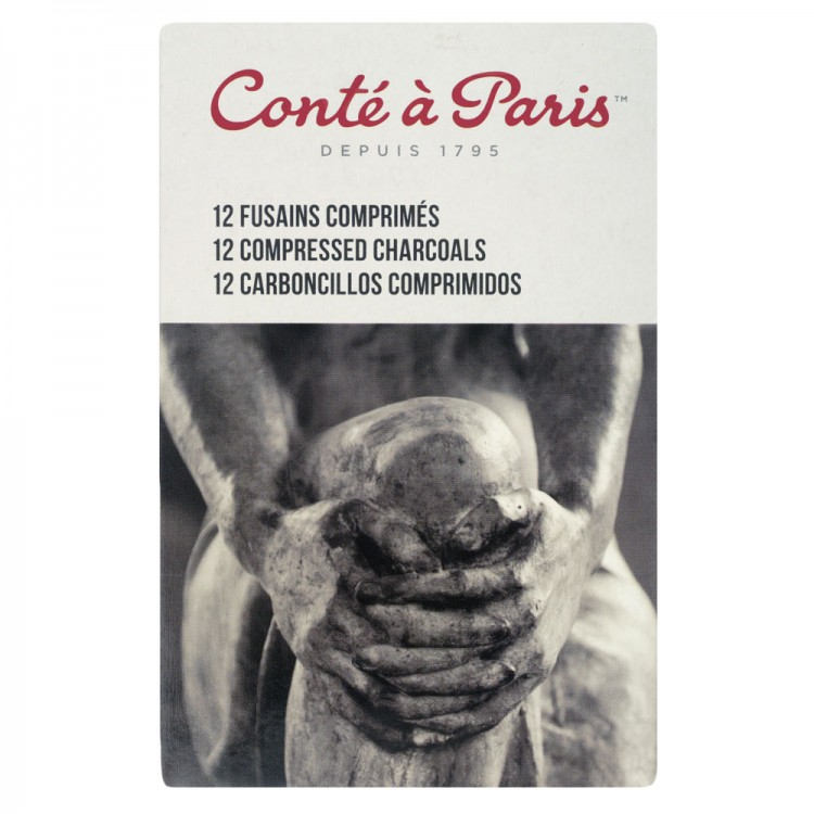 Conte : Compressed Charcoal : Assorted Set of 12 12
