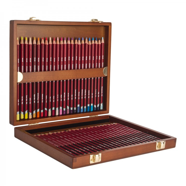 Derwent : Pastel Pencil : Wooden Box Set of 48