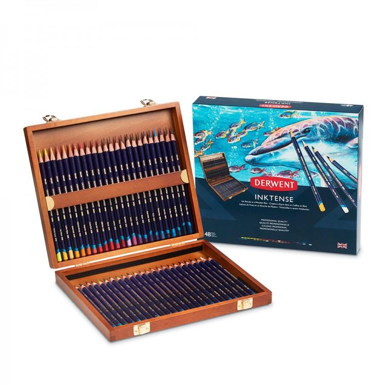 Derwent : Inktense Pencil : Wooden Box Set of 48