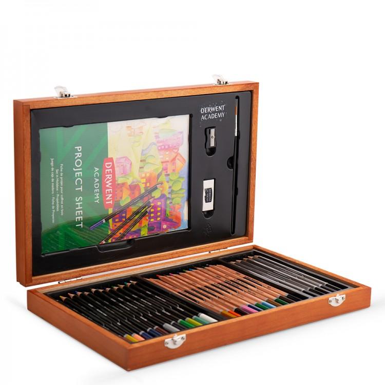 Derwent : Academy : Wooden Box Set