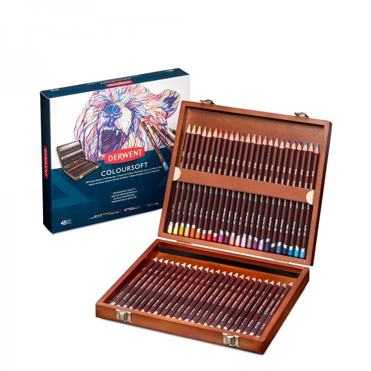 Derwent : Coloursoft Pencil : Wooden Box Set of 48