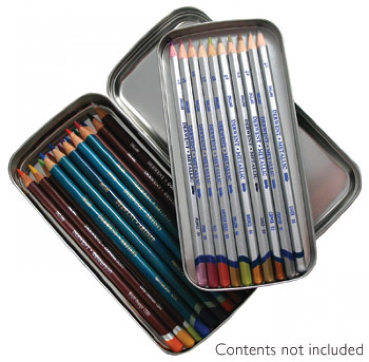 Derwent : Empty Double Pencil Storage Tin : Holds up to 42 Pencils