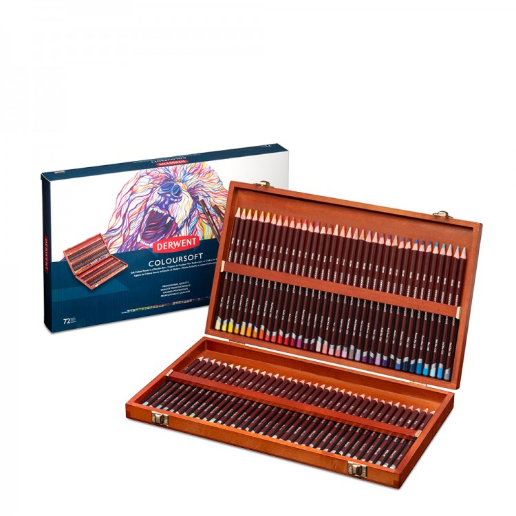Derwent : Coloursoft Pencil : Wooden Box Set of 72