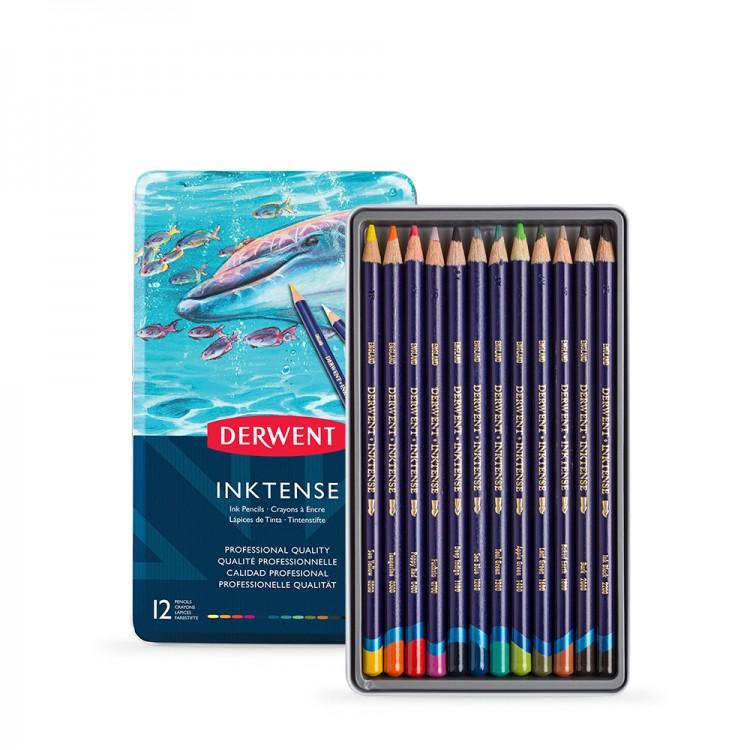 Derwent : Inktense Pencil : Tin Set of 12