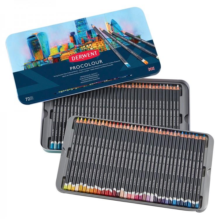 Derwent : Procolour : Colour Pencil : Tin Set of 72