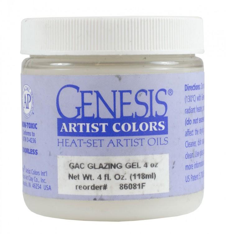 Genesis Heat Set Oil Paint : Medium GLAZING GEL (also called glazing liquid and glazing medium) 118ml (4 oz) jar