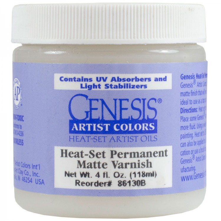 Genesis Heat Set Oil Paint : Medium HEAT-SET PERMANENT MATTE VARNISH 118ml (4 oz) jar