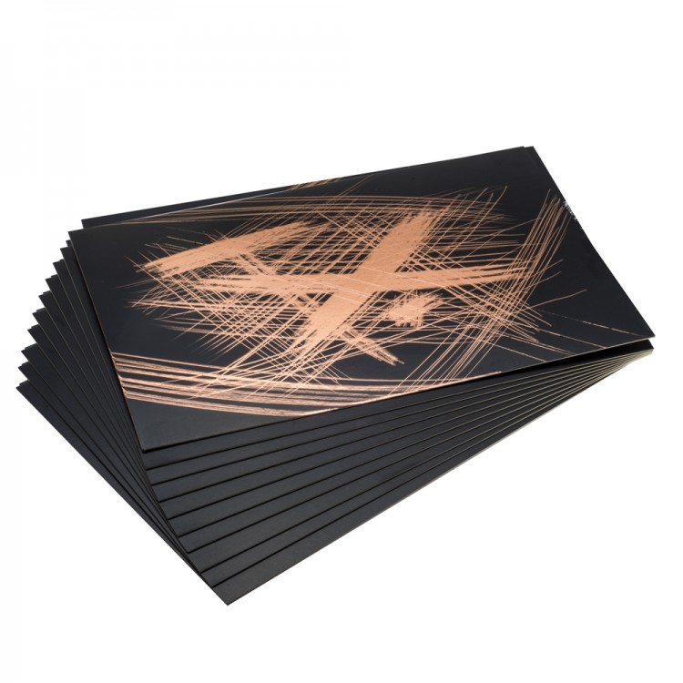 Essdee Scraperfoil Black coated Copperfoil: 305x229mm pack of 10 sheets
