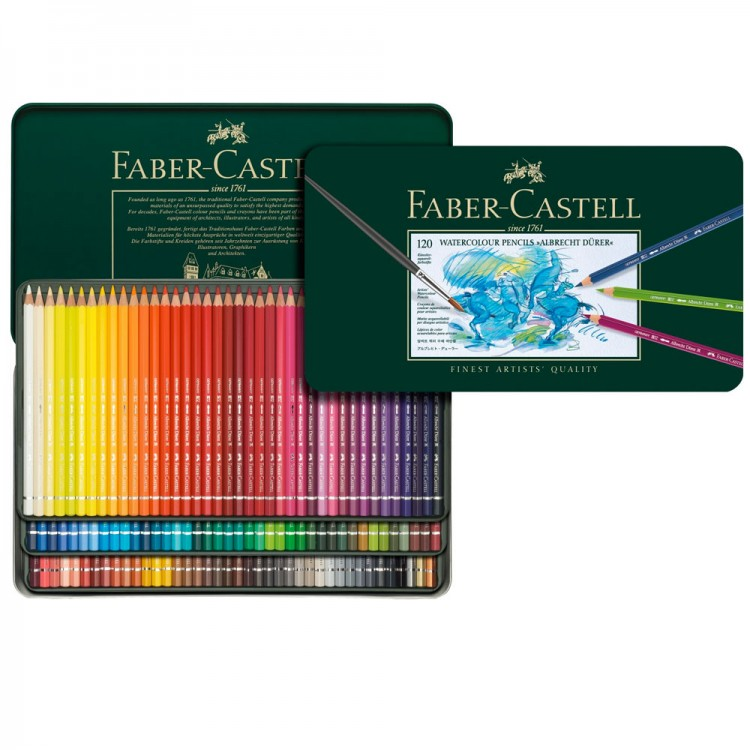 Faber Castell : Albrecht Durer Watercolour Pencil : Metal Tin Set of 120