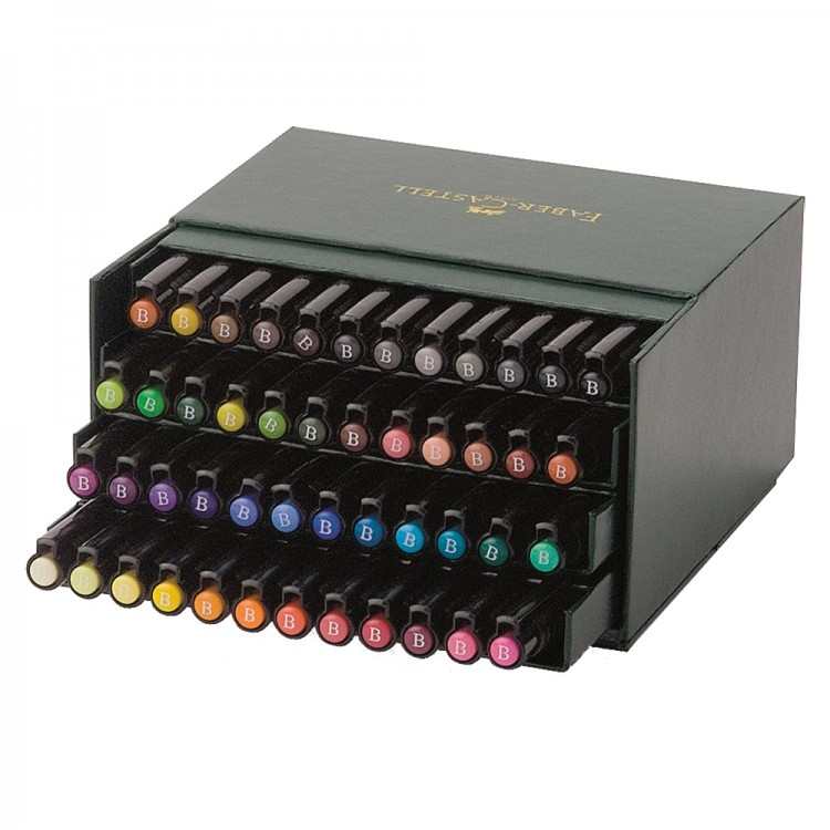 Faber Castell : Pitt Artists Brush Pen Gift Box : Set of 48 Assorted Colours