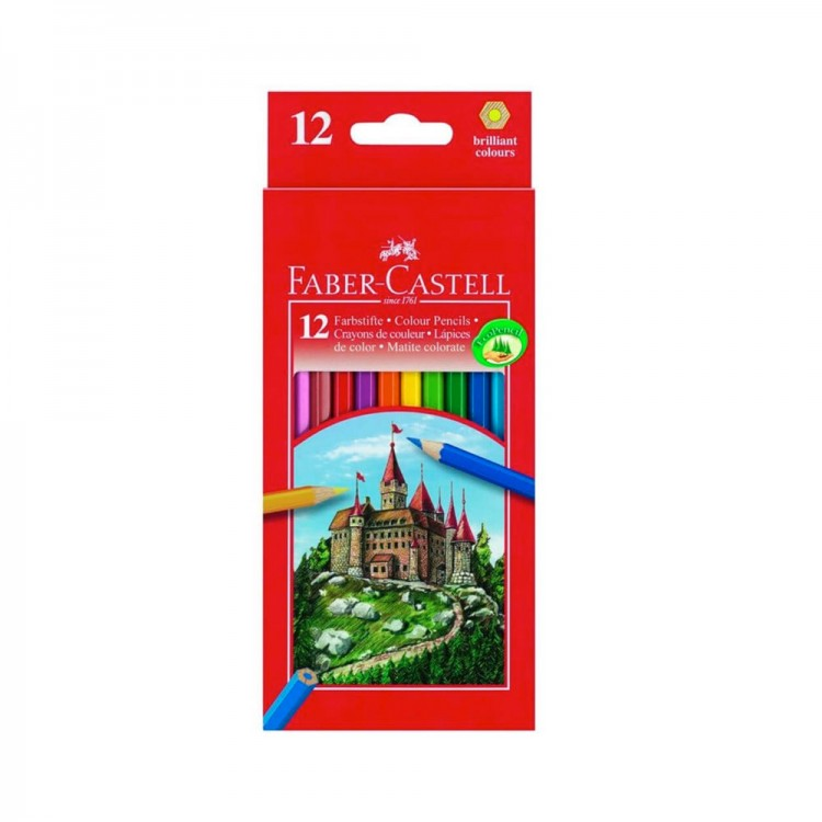 Faber Castell : Eco Colour Pencils : Box of 12 + Sharpener