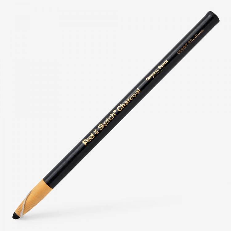 General Pencil Company : Charcoal wrap pencil 2B MEDIUM : Peel and Sketch
