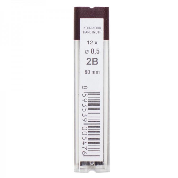 Koh-I-Noor : 12 x Fine Graphite Leads : 0.5mm Diameter : 60mm Long : 4152 2B