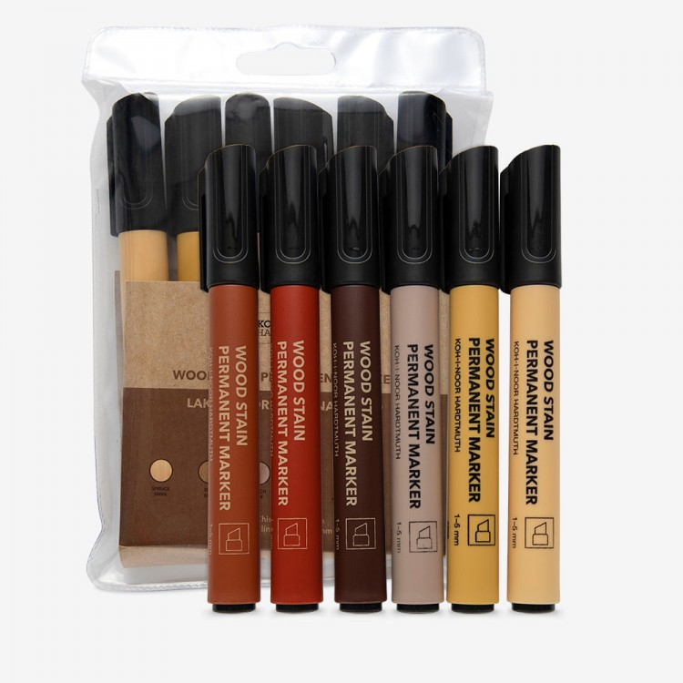 Koh-I-Noor : Permanent Markers For Wood 4506 : Set of 6