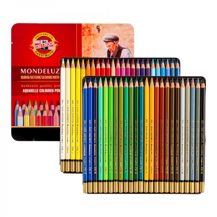 Koh-I-Noor : Mondeluz : Aquarell Coloured Pencils 3726 : Set of 48