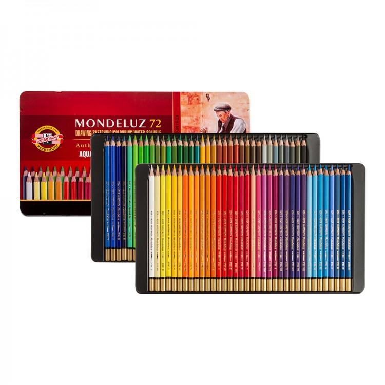 Mondeluz Aquarell Watercolor Pencils 72 colors KOH-I-NOOR 3727 metal box