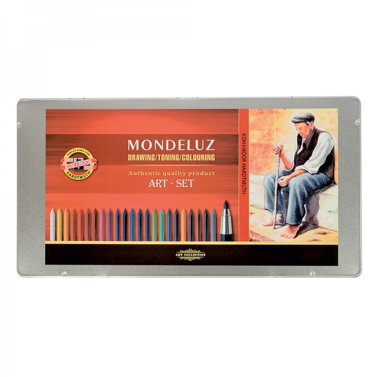 Koh-I-Noor : Mondeluz : Watercolour Pencils : Set of 32 Drawing with Holder