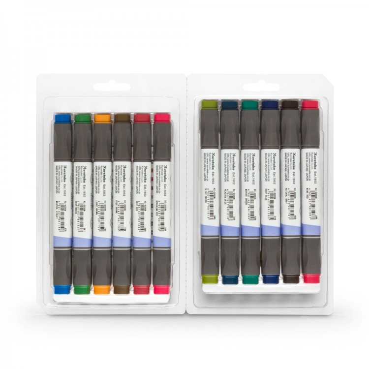 Kuretake : Zig : Kurecolor Twin WS Marker : Set of 12 : Deep Colours