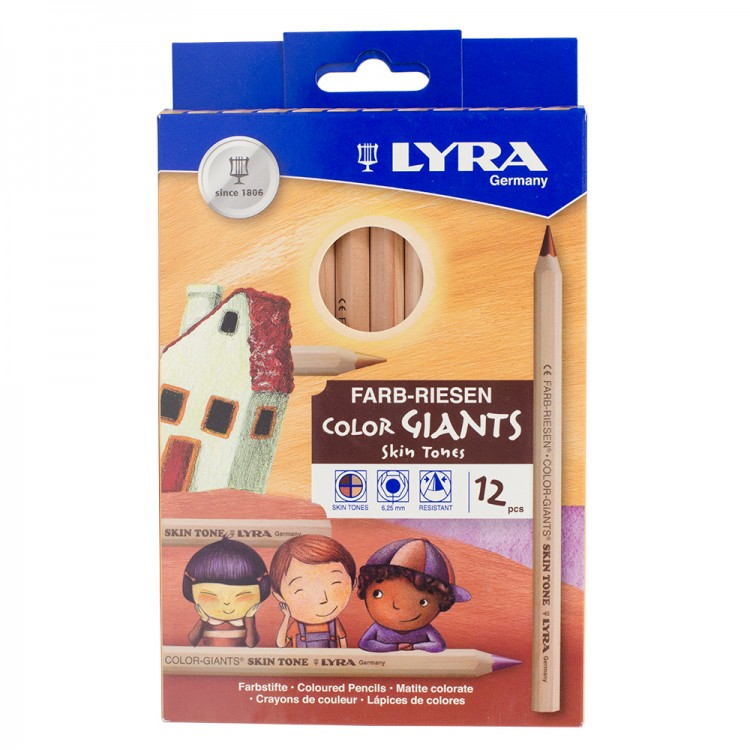 Lyra Color Giants Skin Tone Coloured Pencils : Set of 12