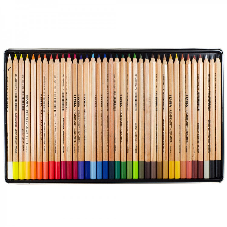 Lyra Rembrandt Aquarell Water Soluble Coloured Pencil Set : Metal Box 36 pcs