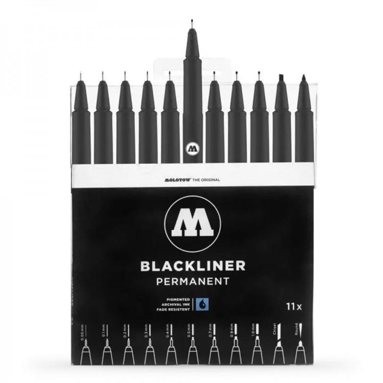 Molotow : Blackliner Pen : Complete Set of 11