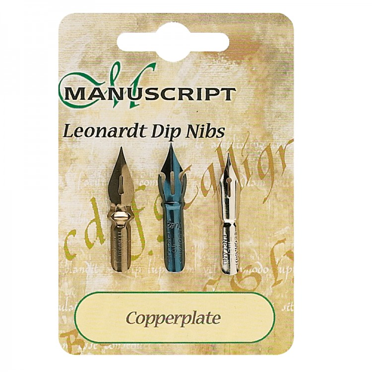 Manuscript 3 Carded Nibs Copperplate Manuscript