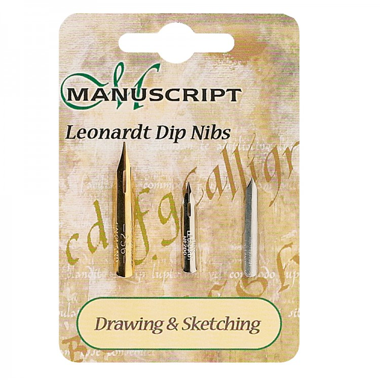 Manuscript : 3 Carded Nibs Drawing & Sketching