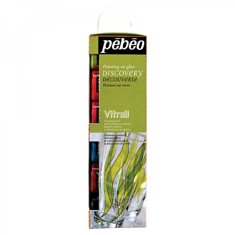 Pebeo : Vitrail : Discovery Collection 20ml : Set of 6 : By Road Parcel Only