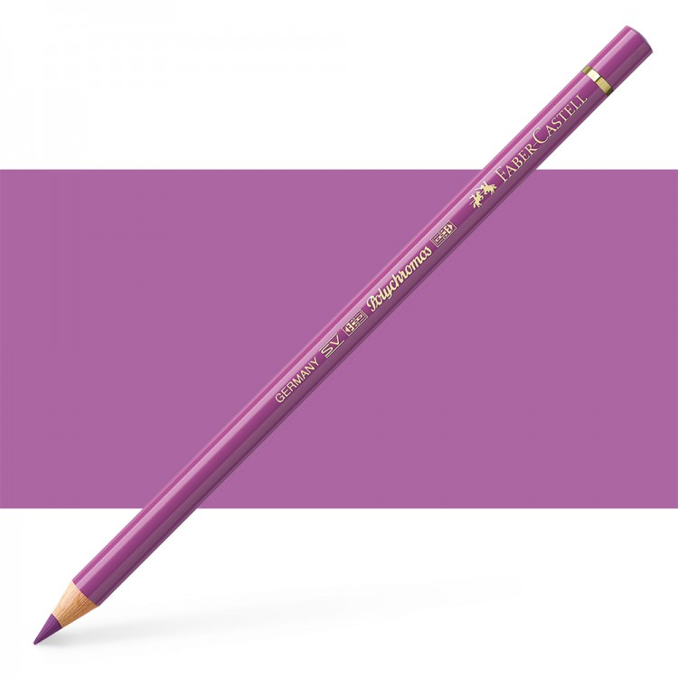 Faber Castell : Polychromos Pencil : Light Red Violet