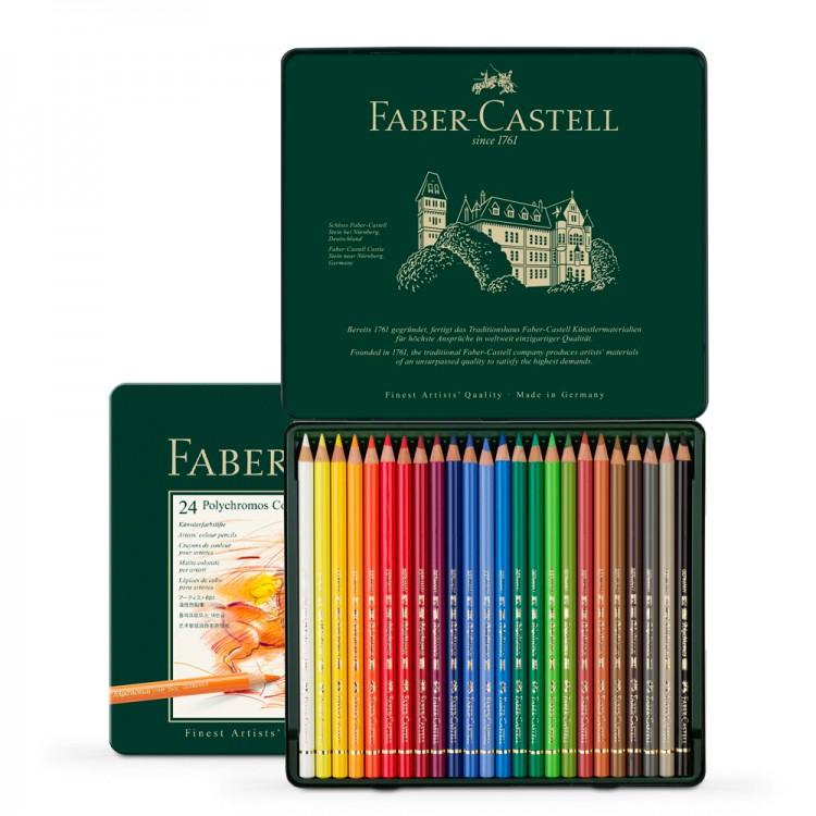 Faber Castell : Polychromos Pencil : Metal Tin Set of 24