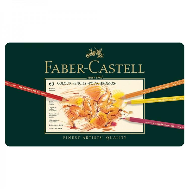 Faber Castell : Polychromos Pencil : Metal Tin Set of 60