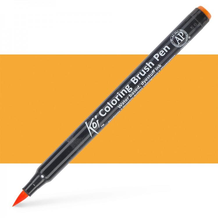 Sakura : Koi : Color Brush Pen : Orange